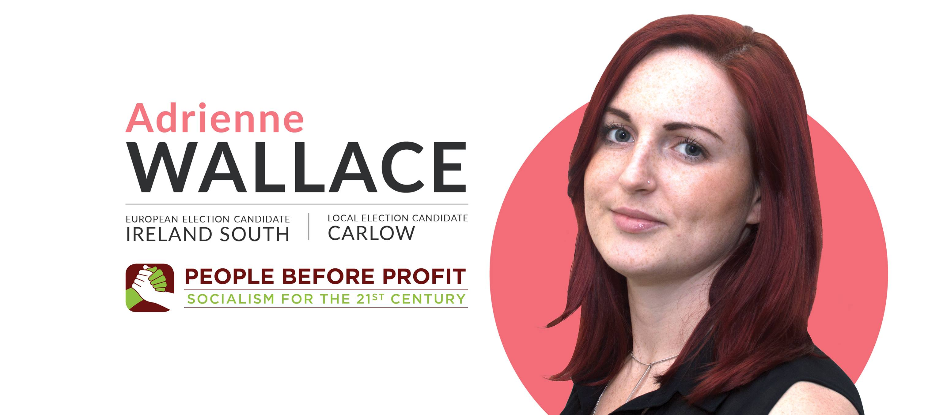 Adrienne Wallace PBP MEP Ireland South and Local Election Candidate Carlow